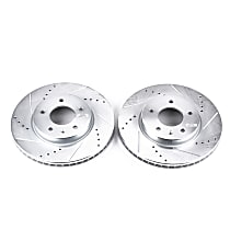 AR8667XPR Front Drilled, Slotted and Zinc Plated Brake Rotors