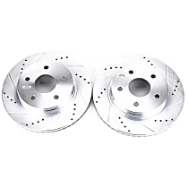 Power Stop® AR8750XPR Front Drilled, Slotted and Zinc Plated Brake Rotors