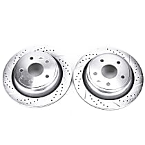 Power Stop® AR8752XPR Rear Drilled, Slotted and Zinc Plated Brake Rotors