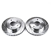 AR8763XPR Front Drilled, Slotted and Zinc Plated Brake Rotors