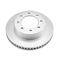 Powerstop Front Driver Or Passenger Side Brake Disc - Evolution Geomet Coated Performance 1 Piece