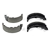 Powerstop Rear Brake Shoe Set - Autospecialty Replacement 2-Wheel Set, Semi-metallic