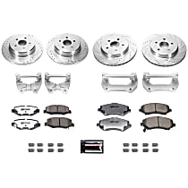 BBK-JK-001 Front and Rear Jeep Wrangler JK / JKU Big Brake Conversion Kit - Rotors, Pads and Caliper Brackets Only