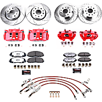 BBK-JL-003R Front and Rear Big Brake Conversion Kit