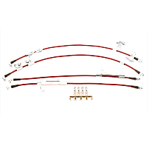 BH00142 Front and Rear Stainless-Steel Brake Hose Line Kit