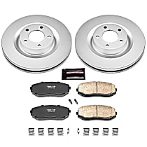 Powerstop Front Brake Disc and Pad Kit - Z17 Evolution Geomet Coated OE Upgrade 2-Wheel Set