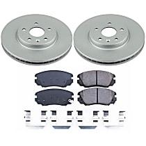 Powerstop Front Brake Disc and Pad Kit - Z17 Evolution Geomet Coated OE Upgrade 2-Wheel Set