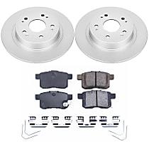Rear Genuine Geomet® Coated Rotor and Low-Dust Ceramic Brake Pad Kit