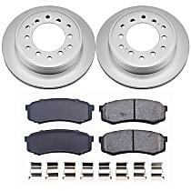 Powerstop Rear Brake Disc and Pad Kit - Z17 Evolution Geomet Coated OE Upgrade 2-Wheel Set