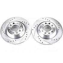 EBR1008XPR Rear Drilled, Slotted and Zinc Plated Brake Rotors