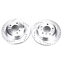 EBR1019XPR Rear Drilled, Slotted and Zinc Plated Brake Rotors