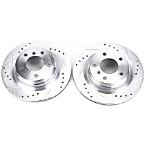 EBR1020XPR Rear Drilled, Slotted and Zinc Plated Brake Rotors