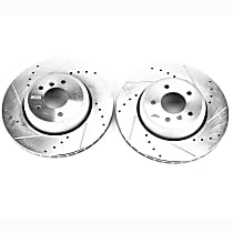 EBR1023XPR Rear Drilled, Slotted and Zinc Plated Brake Rotors