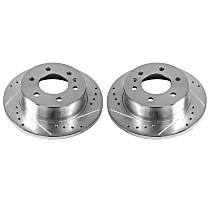 EBR1038XPR Rear Drilled, Slotted and Zinc Plated Brake Rotors
