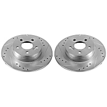 EBR1047XPR Rear Drilled, Slotted and Zinc Plated Brake Rotors