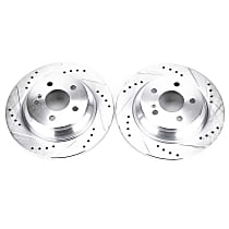 EBR1049XPR Rear Drilled, Slotted and Zinc Plated Brake Rotors