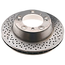 EBR1058 Autospecialty By Powerstop Rear Driver Or Passenger Side Brake Disc