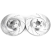 Front Driver And Passenger Side Brake Disc