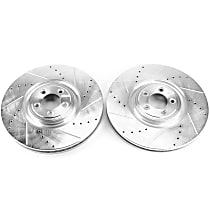 Power Stop® EBR1089XPR Front Drilled, Slotted and Zinc Plated Brake Rotors