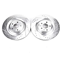EBR1205XPR Rear Drilled, Slotted and Zinc Plated Brake Rotors