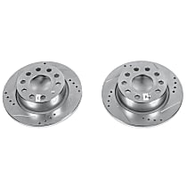 Front OR Rear Drilled, Slotted and Zinc Plated Brake Rotors