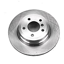 Powerstop Rear Driver Or Passenger Side Brake Disc - Autospecialty Replacement 1 Piece, Vented