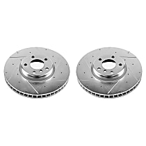 EBR1230XPR Front Drilled, Slotted and Zinc Plated Brake Rotors