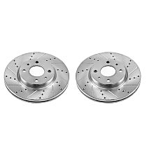 EBR1296XPR Front Drilled, Slotted and Zinc Plated Brake Rotors