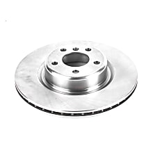 Powerstop Front Driver Or Passenger Side Brake Disc - Autospecialty Replacement 1 Piece, Vented
