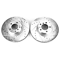 EBR1402XPR Front Drilled, Slotted and Zinc Plated Brake Rotors
