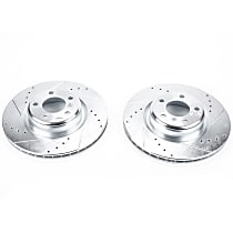 EBR1404XPR Rear Drilled, Slotted and Zinc Plated Brake Rotors