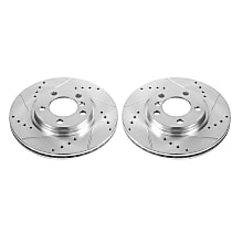Power Stop® EBR1413XPR Front Drilled, Slotted and Zinc Plated Brake Rotors