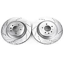 Power Stop® EBR1426XPR Rear Drilled, Slotted and Zinc Plated Brake Rotors