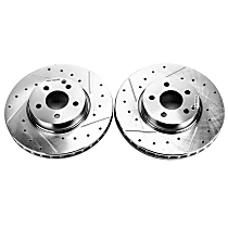 EBR1637XPR Front Drilled, Slotted and Zinc Plated Brake Rotors
