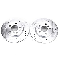Power Stop® EBR1646XPR Front Drilled, Slotted and Zinc Plated Brake Rotors