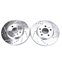 EBR1647XPR Front Drilled, Slotted and Zinc Plated Brake Rotors