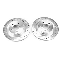 EBR1657XPR Rear Drilled, Slotted and Zinc Plated Brake Rotors