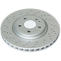 EBR1821EVC Evolution Geomet Coated High Carbon Front Driver Or Passenger Side Brake Disc