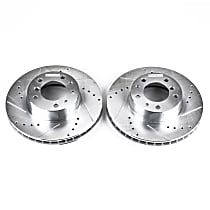 EBR262XPR Front Drilled, Slotted and Zinc Plated Brake Rotors
