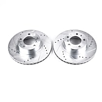 EBR288XPR Front Drilled, Slotted and Zinc Plated Brake Rotors