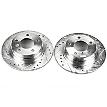 EBR420XPR Rear Drilled, Slotted and Zinc Plated Brake Rotors
