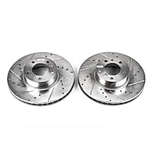 EBR421XPR Front Drilled, Slotted and Zinc Plated Brake Rotors