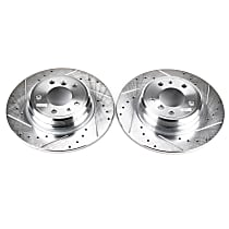 EBR422XPR Rear Drilled, Slotted and Zinc Plated Brake Rotors