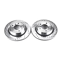 EBR449XPR Rear Drilled, Slotted and Zinc Plated Brake Rotors