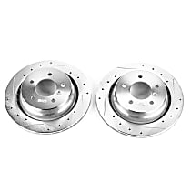 EBR464XPR Rear Drilled, Slotted and Zinc Plated Brake Rotors