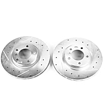 EBR466XPR Front Drilled, Slotted and Zinc Plated Brake Rotors