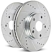 Powerstop Rear Driver Or Passenger Side Brake Disc - Evolution Geomet Coated High Carbon Performance 1 Piece