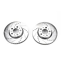 Power Stop® EBR642XPR Front Drilled, Slotted and Zinc Plated Brake Rotors