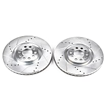 Front Drilled, Slotted and Zinc Plated Brake Rotors