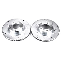 EBR661XPR Front Drilled, Slotted and Zinc Plated Brake Rotors